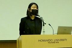 入校生代表 吉田志織さんの挨拶